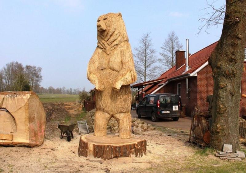 Custom carvings u2013 firewood farms